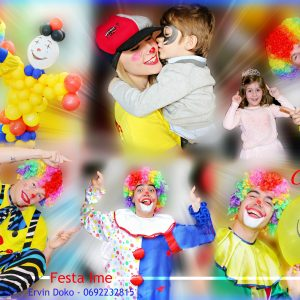 10 clown party festa ime
